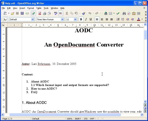 The orginal Help file in OpenOffice